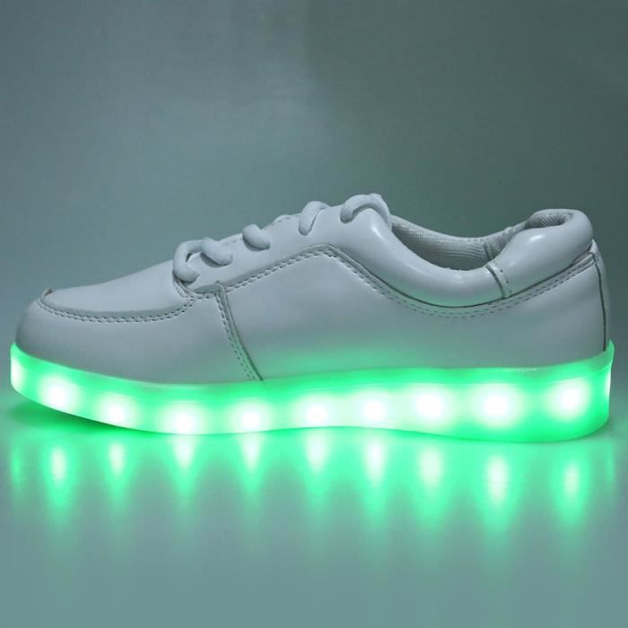Up de Chaussures Casual Lace Charged lumineux LED sport USB Male Sqwgd8w