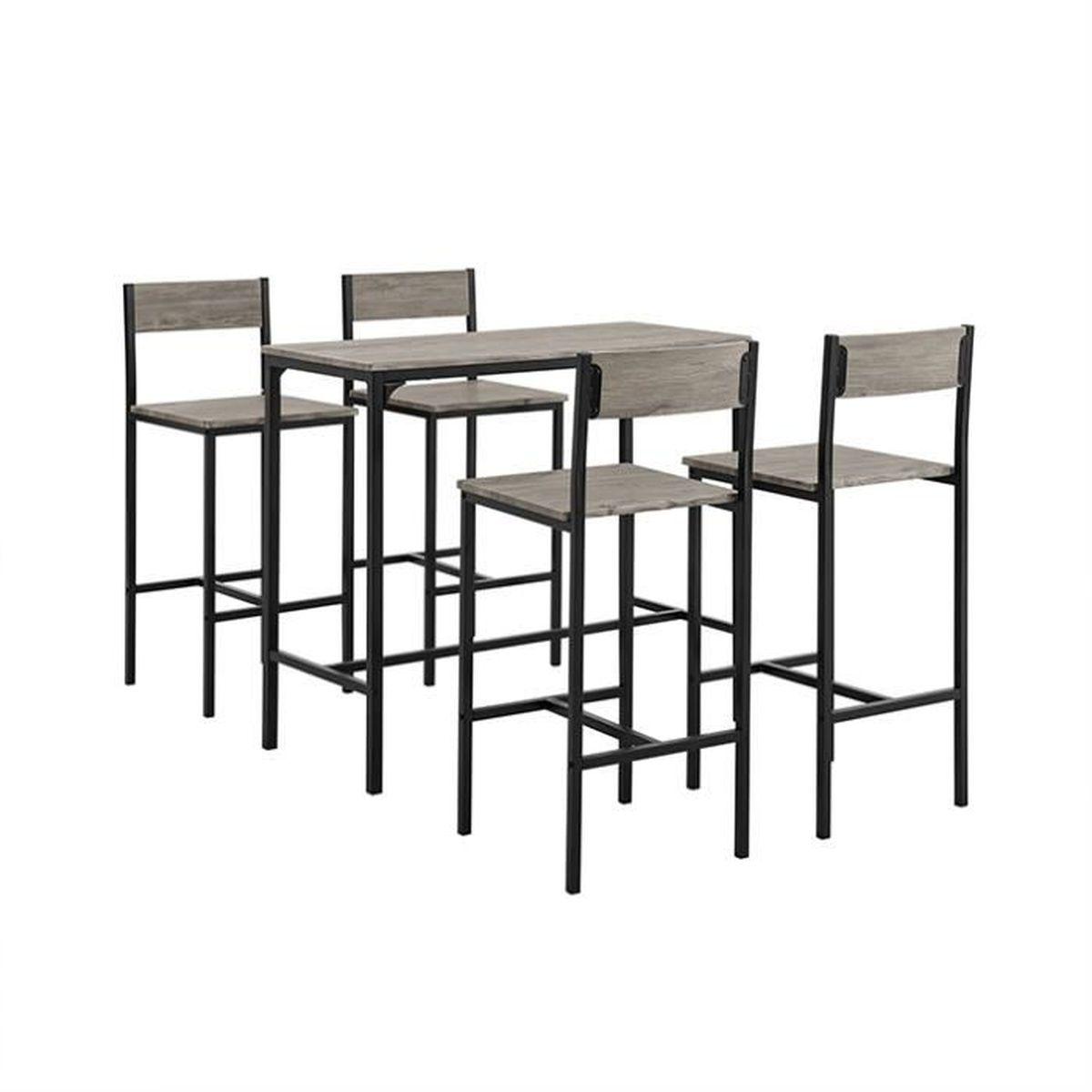 Ensemble table de cuisine haute et chaise - Achat / Vente ...