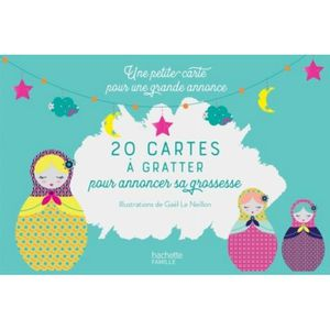LIVRE PARENTALITÉ 20 cartes à gratter pour annoncer une grossesse à