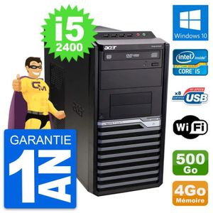 ORDI BUREAU RECONDITIONNÉ PC Tour Acer Veriton M2610G Intel i5-2400 RAM 4Go