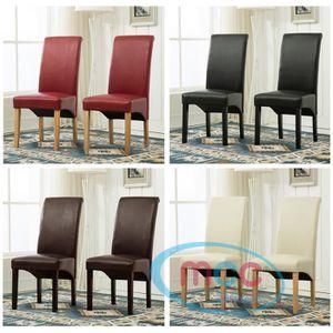 CHAISE Lot de 2 chaises de Salle-à-Manger Deluxe en Simil