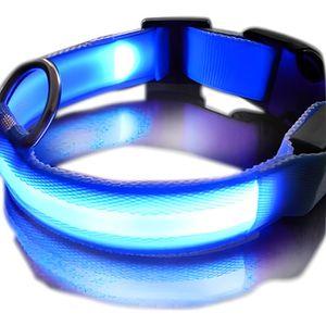 COLLIER Collier LED Lumineux pour Chien Bleu / Bleu - T...