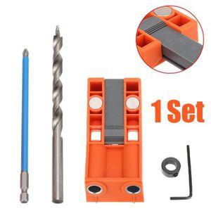 outil de localisation de trous pour le travail du bois Kit de gabarit de poche 15 degr/és guide de forage oblique pour travail du bois avec adaptateur de trou 6//8//10 mm