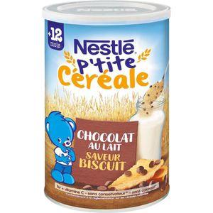 CÉRÉALES BÉBÉ NESTLÉ P'tite céréale Chocolat au lait biscuité -