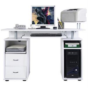MEUBLE INFORMATIQUE COSTWAY Bureau Informatique Multimedia Table de l'