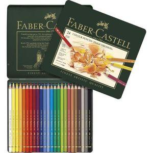 CRAYON DE COULEUR FABER-CASTELL Boîte Métal 24 Crayons Polychromos
