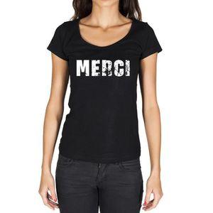 Merci Tshirt Femme Tshirt Noir - Achat /