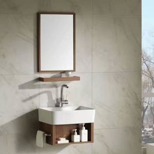 Meuble salle de bain bois naturel