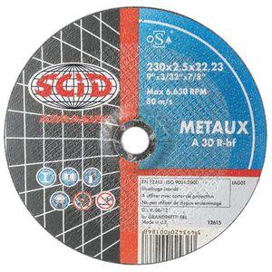 ACCESSOIRE MACHINE Disque à tronçonner usage courant SCID - Métaux -