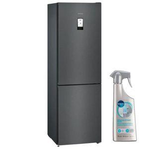 RÉFRIGÉRATEUR CLASSIQUE SIEMENS Réfrigérateur frigo combiné noir  324L Fro