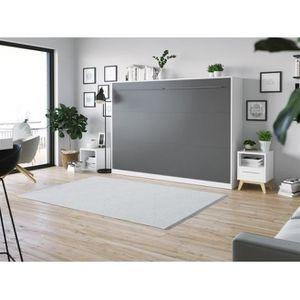 ARMOIRE DE CHAMBRE SMARTBett Standard 140x200 horizontal blanc/anthra