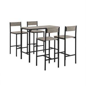 MANGE-DEBOUT SoBuy® OGT14 Ensemble table de bar bistrot + 4 cha