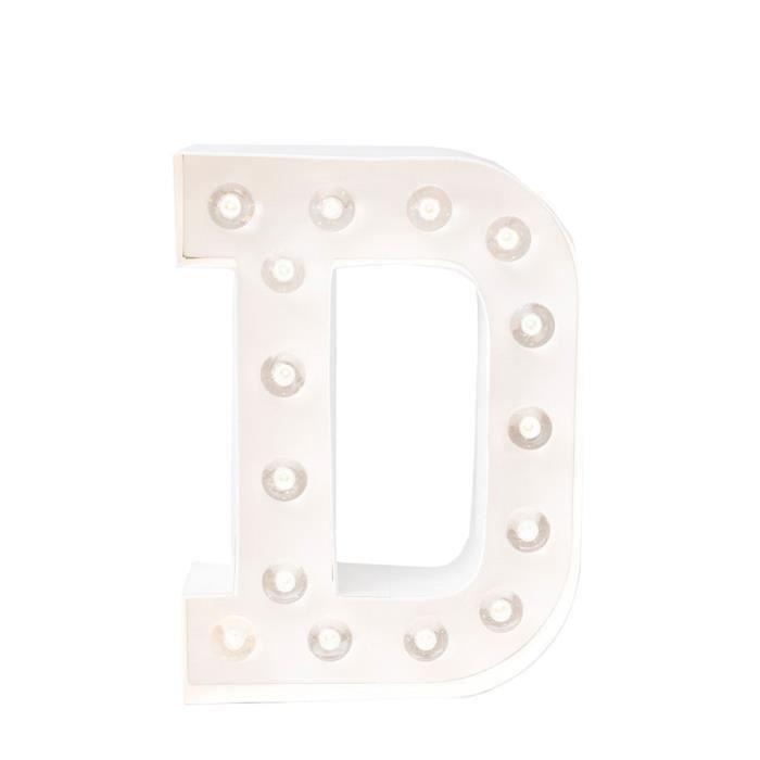ARTEMIO Lettre lumineuse à led D