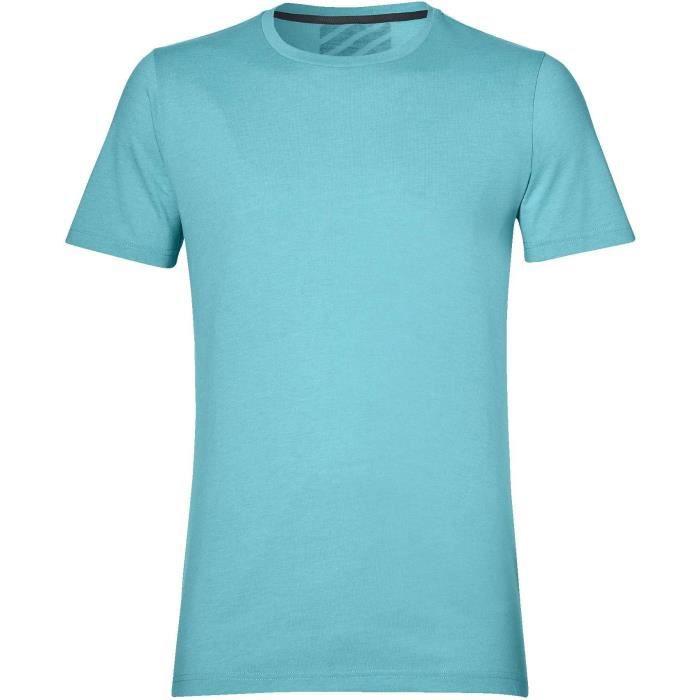 ASICS T-shirt de running - Homme - Bleu
