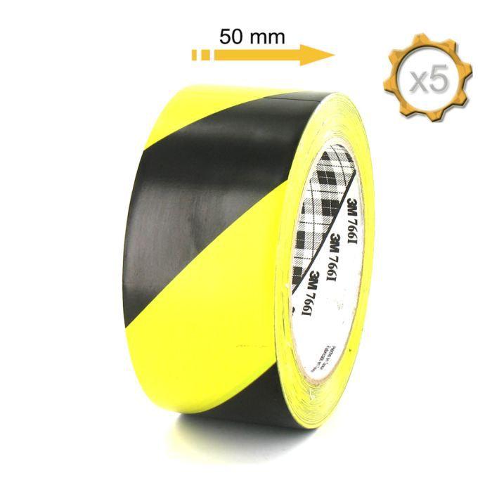 tesa S/écuriser Ruban adh/ésif de signalisation PVC Rouge//Blanc 66m x 50mm