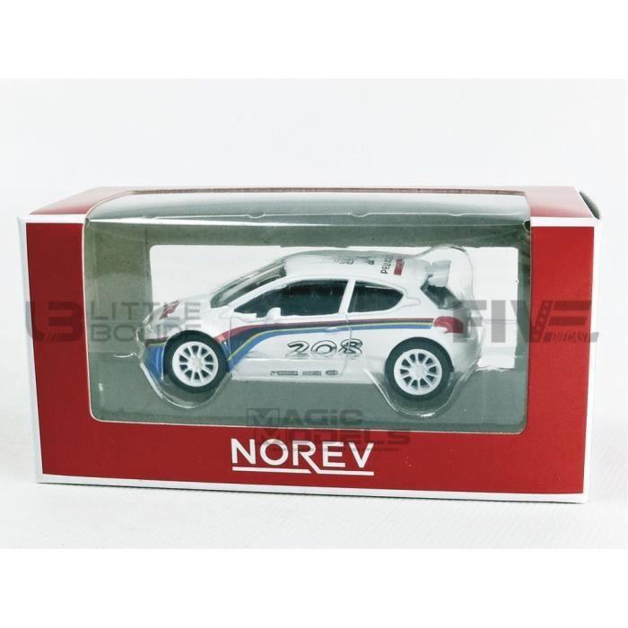 Voiture Miniature de Collection - NOREV 1/64 - PEUGEOT 208 T16 R5 - 2013 - White - 319111_208T16R5