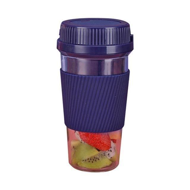 Presse-agrumes Portable ménage électrique presse-agrumes tasse Fruits USB charge Mini Smoothie mélangeur presse-agrumes-bleu
