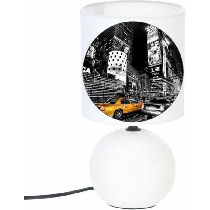 LAMPE DE CHEVET PIED BOULE NEW YORK 4