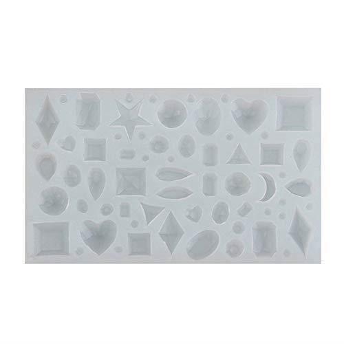 Moule en résine de silicone Rungao en forme de polygones pour la création de bijoux et d'objets à faire soi-même