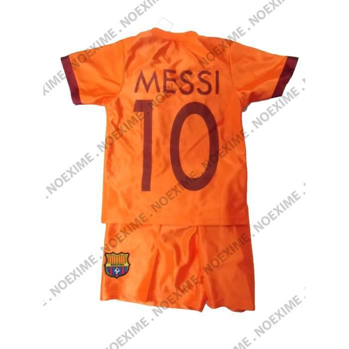MAILLOT + SHORT BARCELONE MESSI 10 ANS