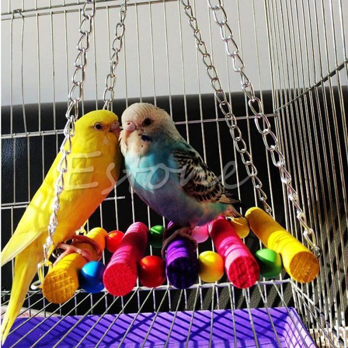 Jouets pour perroquets et perruches, Cage à perruches, hamac, balançoire, jouets à mâcher suspendus pour oiseaux, offre [B029DB9]