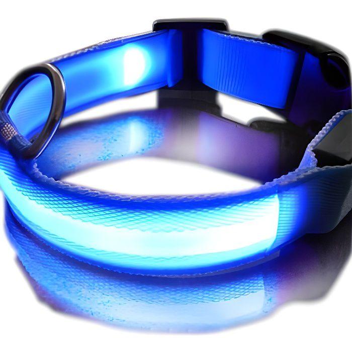 Collier LED Lumineux pour Chien Bleu / Bleu - T...