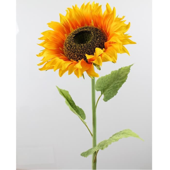 Tournesol artificiel XL, jaune-orange, 105 cm, Ø 27 cm - Tournesol géant - Fleur artificielle - artplants
