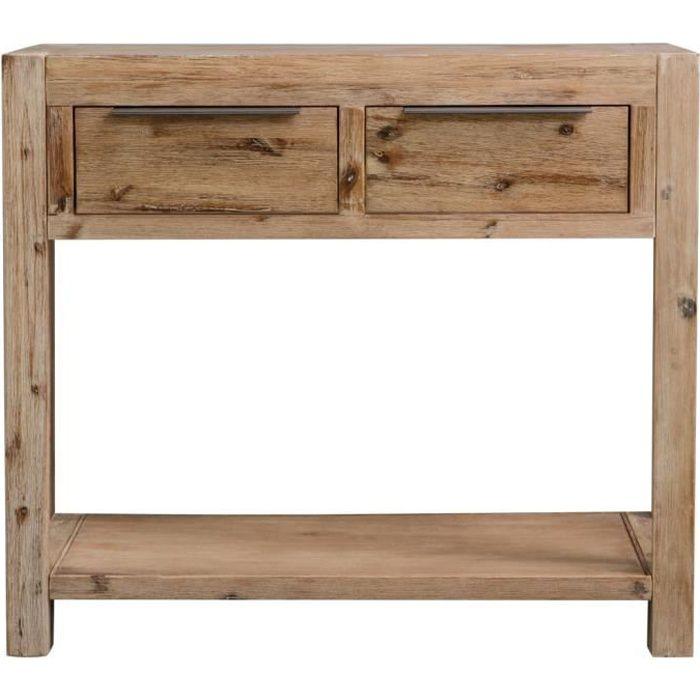 Bonne qualité - Table d'entrée Console Table d'appoint - 82x33x73 cm Bois d'acacia massif @7853 :