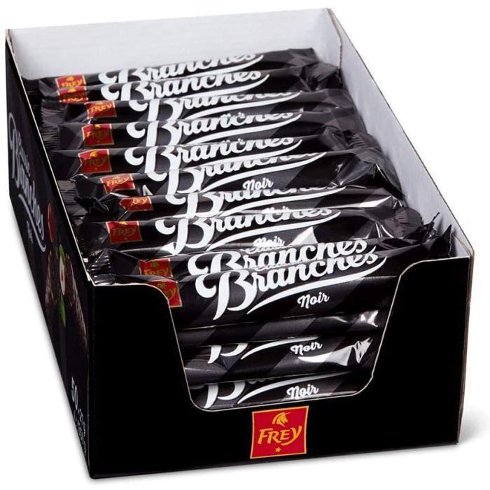 Frey Branches Classic Barres de chocolat noir - Présentoir de 50 Snacks fourrées à la crème de noisettes - Fabriqué en Suisse - Lot
