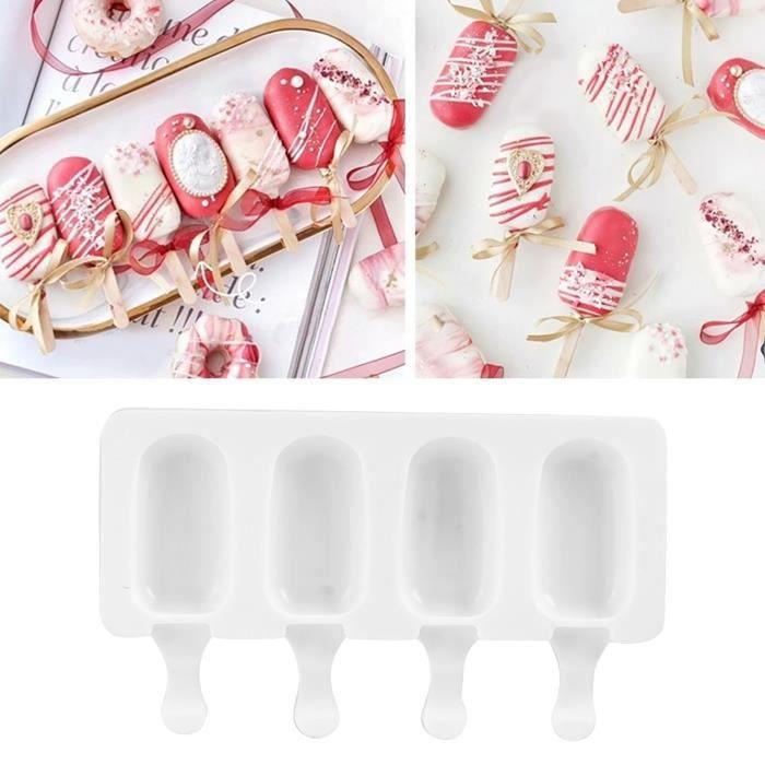 Contenants de crème glacée, moules à popsicle, moules à glace en silicone moules en silicone pour la crème glacée pour le