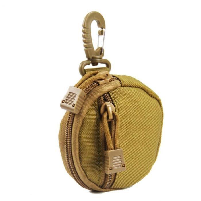 Molle Sac pochette universelle Hip Ceinture Wallet Purse cas de téléphone avec fermeture éclair Camping kaki