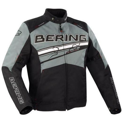 Bering Blouson moto Bario noir gris blanc