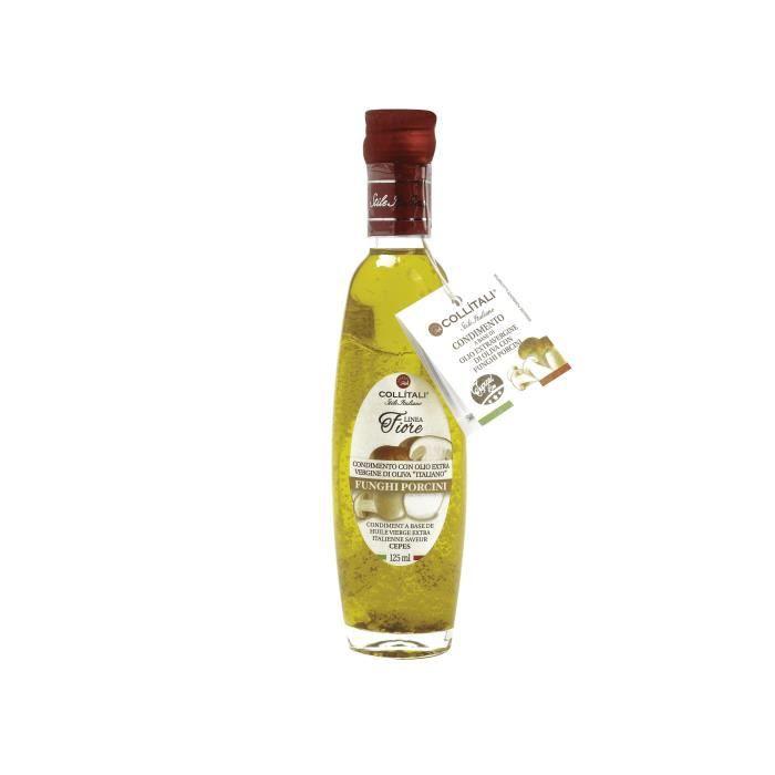 COLLITALI Bouteille -poignée design- FIORE huile olive Italie saveur cèpe- 125 ml