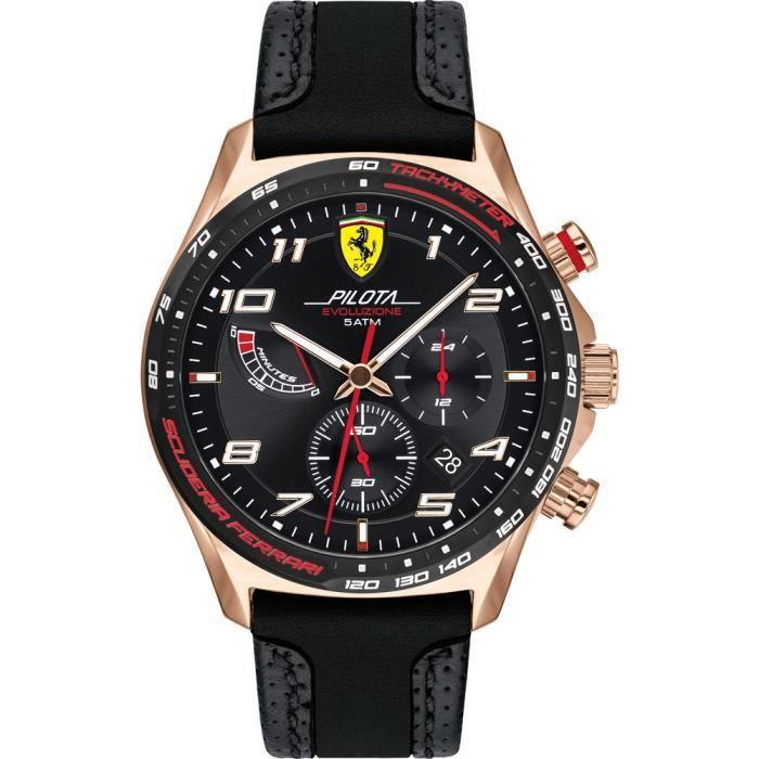 Ferrari-Montre Chronographe pour Hommes à movement Quartz en Silicone - 0830719