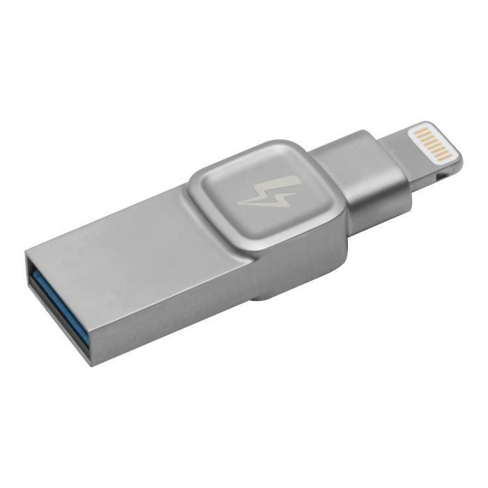 Kingston DataTraveler BOLT Duo Clé USB 32 Go USB 3.0 - Lightning argenté(e)