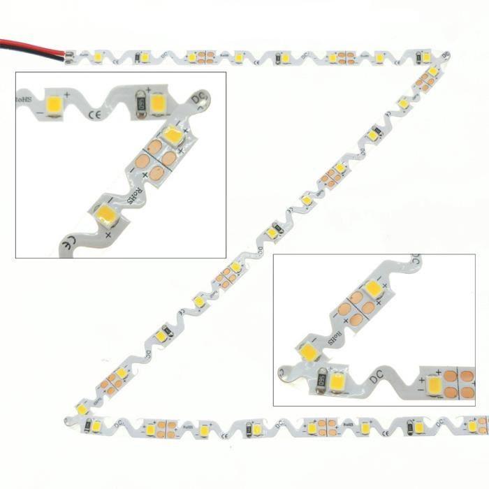 Ruban LED pliable 'S' DC24V 60 LED SMD2835 14W/m (Blanc Froid (6000K) - 5m)