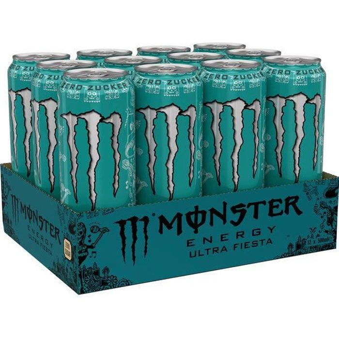 Monster Energy Drink Ultra Fiesta Zero Sugar 12 x 0,5l