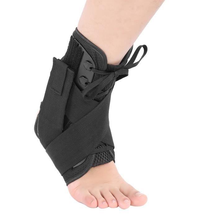 Chevillère Soutien Respirante Talon de Maintien Ligamentaire Sangle Protège-pied pour Entorse Cheville/Sport/Fitness
