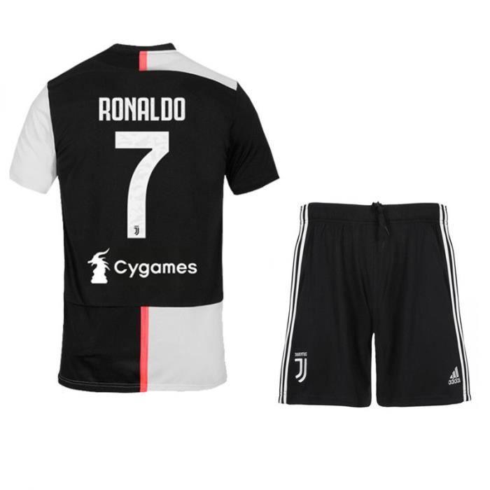 Ronaldo NO.7 Juventus Cristiano Jersey Maillots Foot et Shorts de football+ Chaussettes Enfant