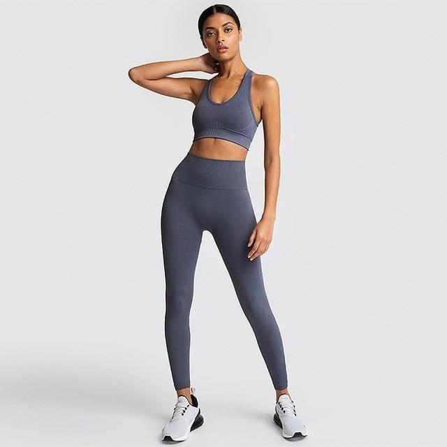Zencart Femmes Yoga Ensembles Respirant Solide Gilet + Leggings Pantalon Fitness Vêtements De Course Sexy Haut De Sport Vêtements