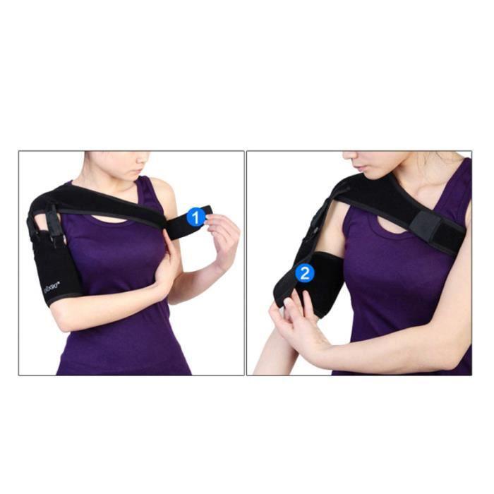 1Pc bras réglable élingue épaule immobilisateur Comfrotable maille coude attelle poignet BRACELET DE FORCE
