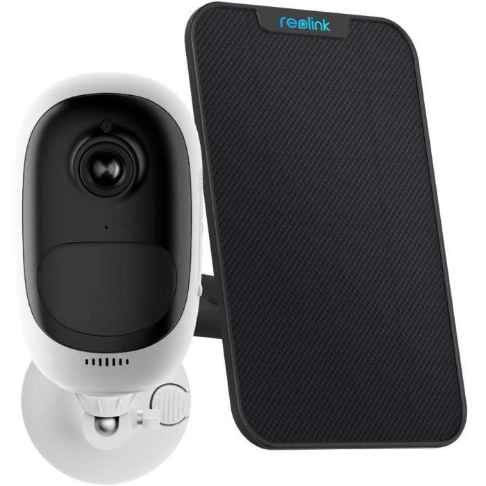 Reolink Argus Pro avec Panneau Solaire Caméra Surveillance sur Batteries Extérieur 1080P Vision Nocturne Détection de Mouvement PIR