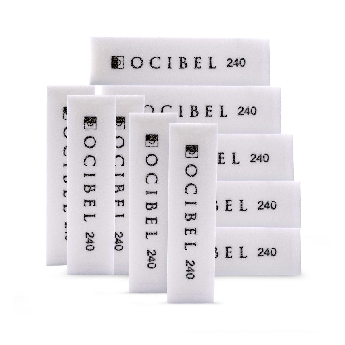 Lot 10 Blocs Polissoir 4 Faces 100/100 Blanc