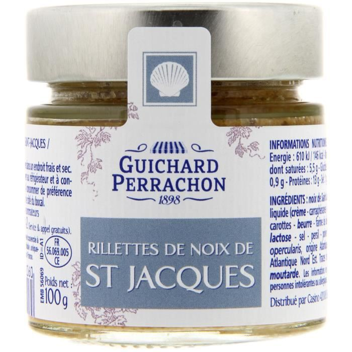 GUICHARD PERRACHON Rillette de Saint Jacques - 100 g