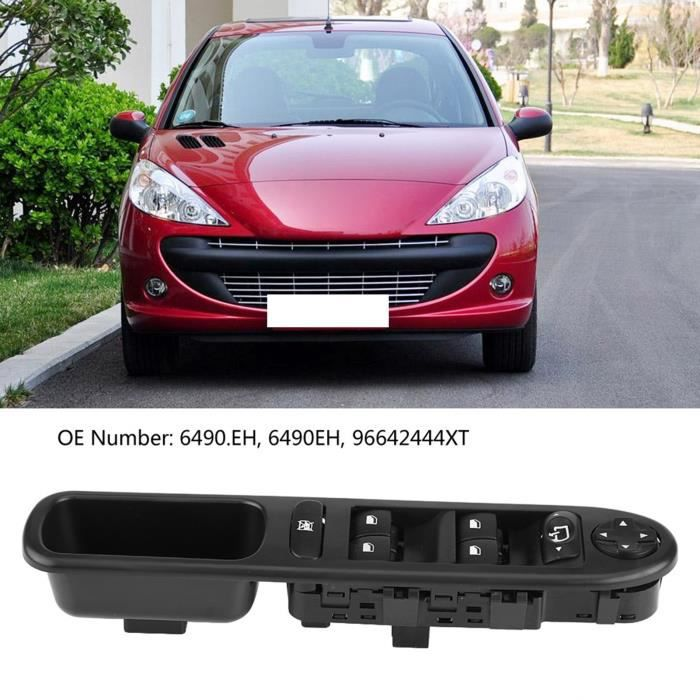 Interrupteur de commande lève-vitre électrique avant droit pour Peugeot 207 6490.EH HB033 #254