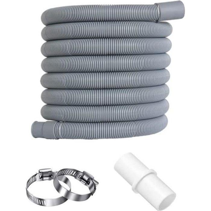 3m Flexible D'évacuation Universel, D'eau Rallonge Tuyau Kit D'extension Flexible Vidange pour Lave Vaisselle, Machine Laver