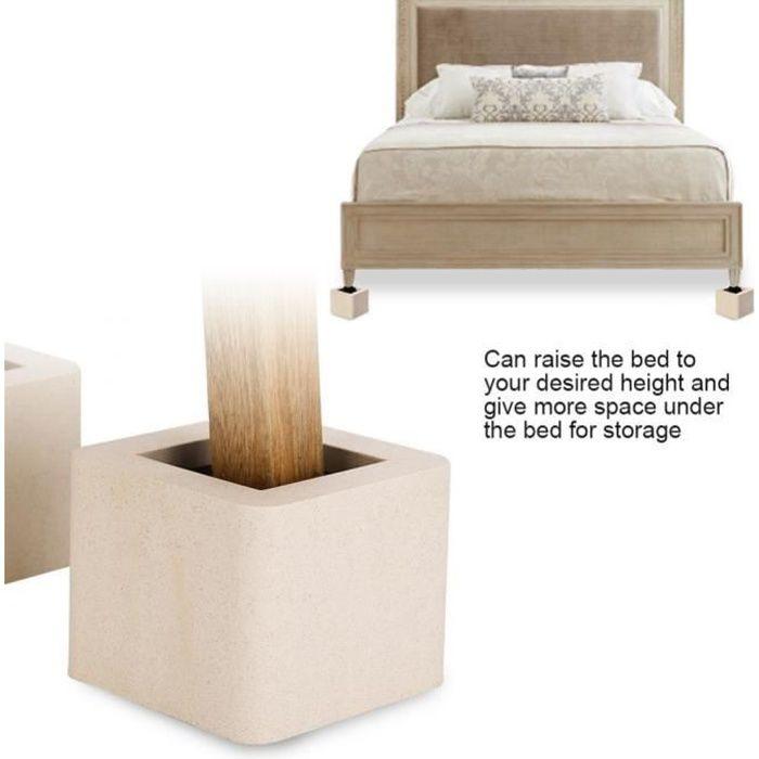 Pied de meubles Riser de fourniture Réhausseur de meuble Lit / Table / Bureau / Canapé/Chaise