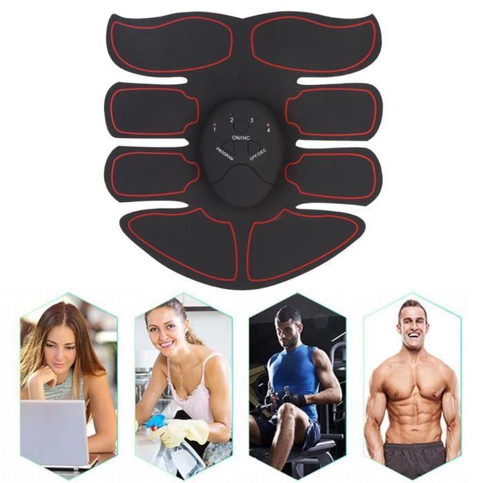 EMS APPAREIL ABDO Appareil de Musculation Abdominaux Fitness pour Hommes Femmes Electrostimulateur Bras Cuisses Ceinture Masseur Aut