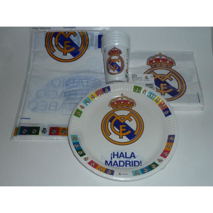 kit anniversaire real madrid set assiettes jetables. Black Bedroom Furniture Sets. Home Design Ideas