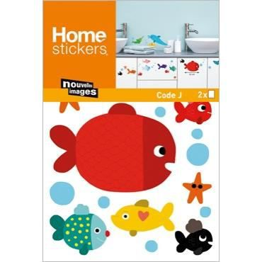 stickers meubles salle de bain enfant poissons achat vente stickers cdiscount. Black Bedroom Furniture Sets. Home Design Ideas